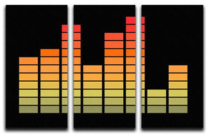 Graphic Equaliser 3 Split Panel Canvas Print - Canvas Art Rocks - 1