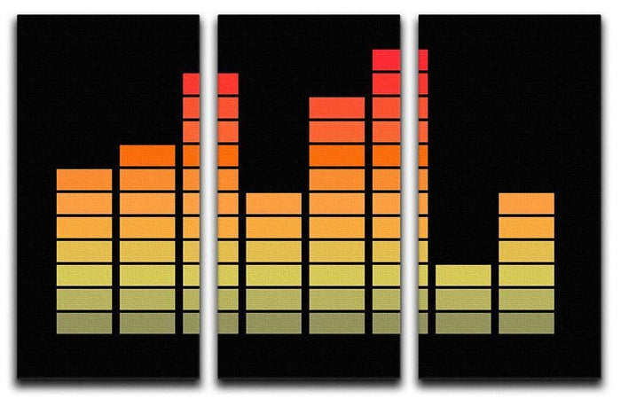 Graphic Equaliser 3 Split Panel Canvas Print