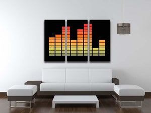 Graphic Equaliser 3 Split Panel Canvas Print - Canvas Art Rocks - 3