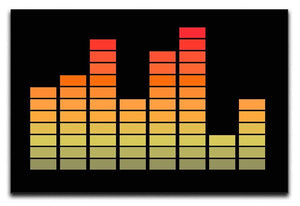 Graphic Equaliser Canvas Print or Poster  - Canvas Art Rocks - 1