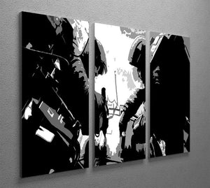 Gravity Movie 3 Split Panel Canvas Print - Canvas Art Rocks - 2