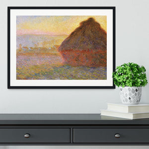 Graystacks by Monet Framed Print - Canvas Art Rocks - 1