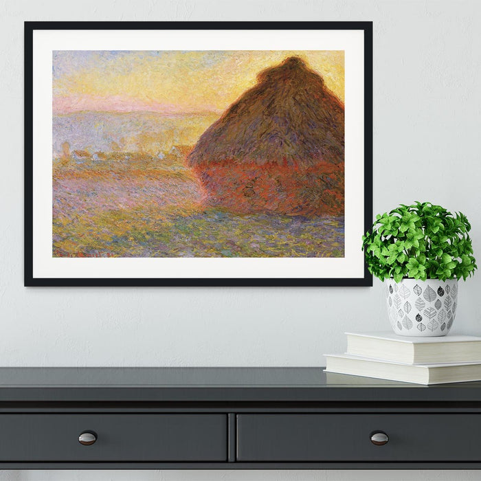 Graystacks by Monet Framed Print