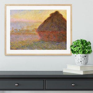 Graystacks by Monet Framed Print - Canvas Art Rocks - 3