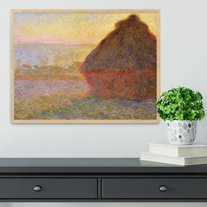 Graystacks by Monet Framed Print - Canvas Art Rocks - 4