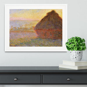 Graystacks by Monet Framed Print - Canvas Art Rocks - 5