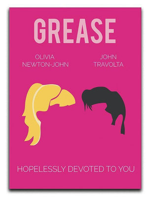 Grease Minimal Movie Canvas Print or Poster  - Canvas Art Rocks - 1