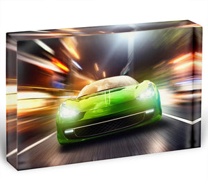 Green Race Car Acrylic Block - Canvas Art Rocks - 1