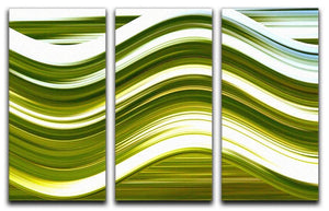 Green Wave 3 Split Panel Canvas Print - Canvas Art Rocks - 1
