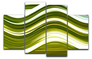 Green Wave 4 Split Panel Canvas - Canvas Art Rocks - 1