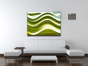 Green Wave Canvas Print or Poster - Canvas Art Rocks - 4