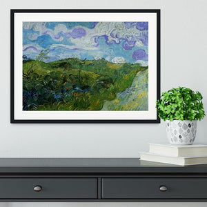 Green Wheat Fields by Van Gogh Framed Print - Canvas Art Rocks - 1