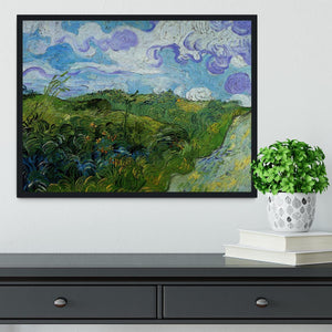 Green Wheat Fields by Van Gogh Framed Print - Canvas Art Rocks - 2