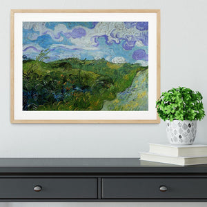 Green Wheat Fields by Van Gogh Framed Print - Canvas Art Rocks - 3