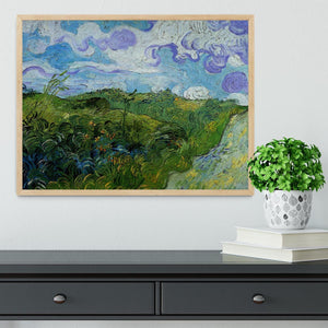 Green Wheat Fields by Van Gogh Framed Print - Canvas Art Rocks - 4