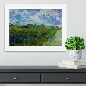Green Wheat Fields by Van Gogh Framed Print - Canvas Art Rocks - 5