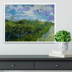 Green Wheat Fields by Van Gogh Framed Print - Canvas Art Rocks -6