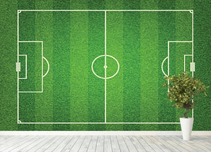Green grass soccer field Wall Mural Wallpaper - Canvas Art Rocks - 4