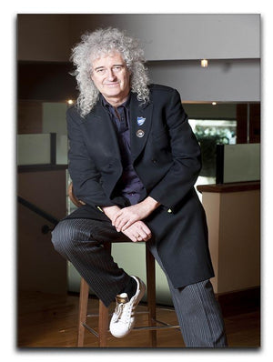 Guitarist Brian May of Queen Canvas Print or Poster  - Canvas Art Rocks - 1