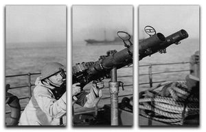 Gunner on a merchant ship 3 Split Panel Canvas Print - Canvas Art Rocks - 1