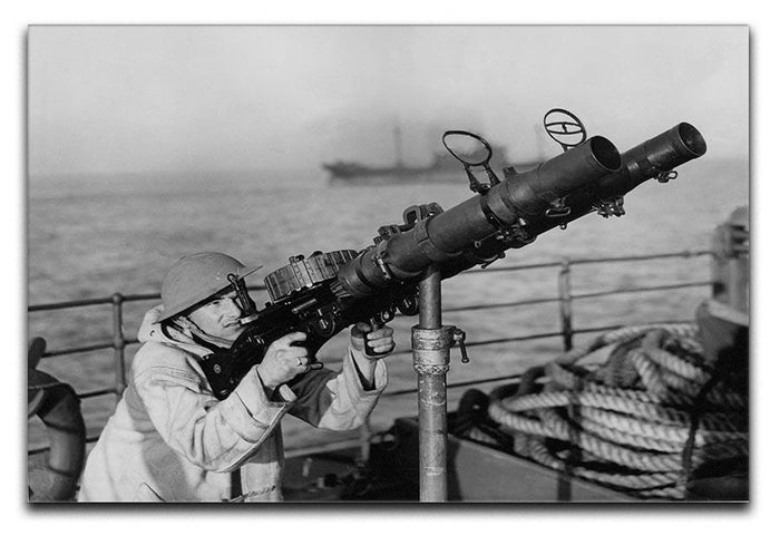 Gunner on a merchant ship Canvas Print or Poster