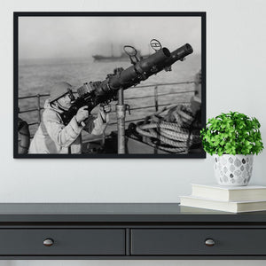 Gunner on a merchant ship Framed Print - Canvas Art Rocks - 2