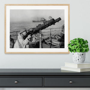 Gunner on a merchant ship Framed Print - Canvas Art Rocks - 3