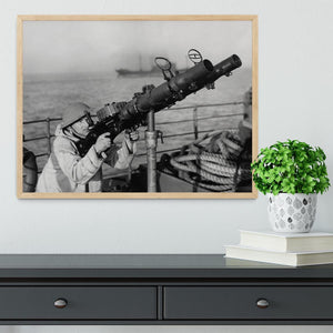 Gunner on a merchant ship Framed Print - Canvas Art Rocks - 4
