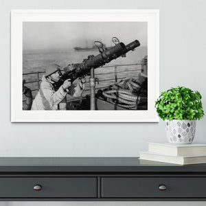 Gunner on a merchant ship Framed Print - Canvas Art Rocks - 5