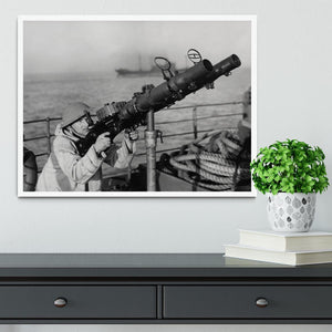 Gunner on a merchant ship Framed Print - Canvas Art Rocks -6
