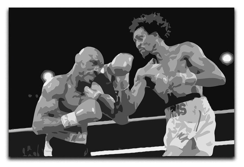 Hagler vs Hearns Canvas Print & Poster - Canvas Art Rocks