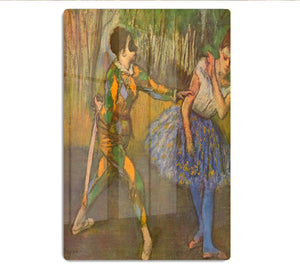 Harlequin and Columbine by Degas HD Metal Print - Canvas Art Rocks - 1