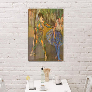Harlequin and Columbine by Degas HD Metal Print - Canvas Art Rocks - 3