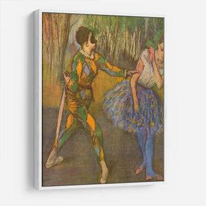 Harlequin and Columbine by Degas HD Metal Print - Canvas Art Rocks - 7