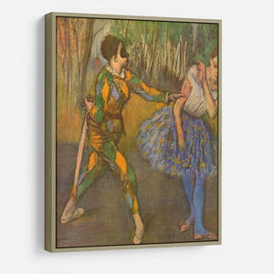 Harlequin and Columbine by Degas HD Metal Print - Canvas Art Rocks - 8