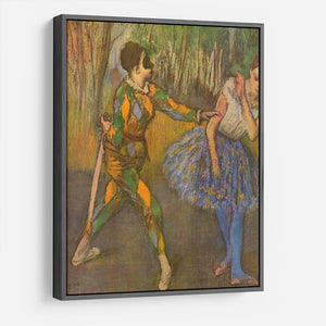 Harlequin and Columbine by Degas HD Metal Print - Canvas Art Rocks - 9