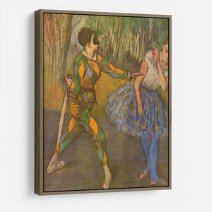 Harlequin and Columbine by Degas HD Metal Print - Canvas Art Rocks - 10