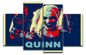 Harley Quinn Pop Art 4 Split Panel Canvas  - Canvas Art Rocks - 1