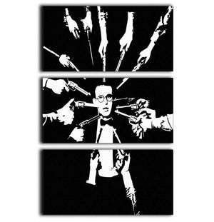 Harold Lloyd Guns to the Head 3 Split Panel Canvas Print - Canvas Art Rocks - 1