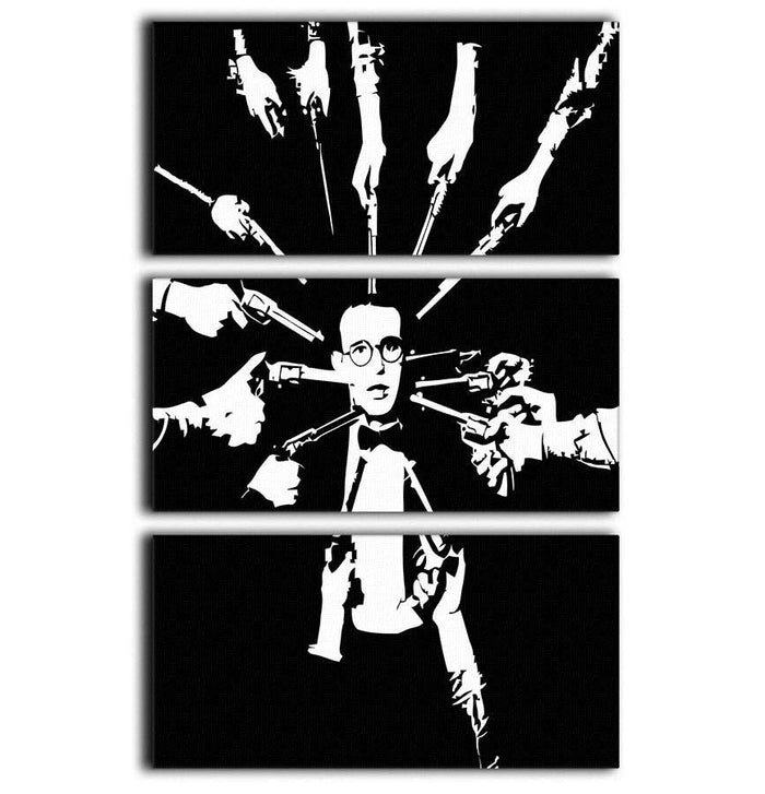 Harold Lloyd Guns to the Head 3 Split Panel Canvas Print