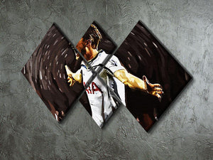 Harry Kane 4 Square Multi Panel Canvas - Canvas Art Rocks - 2