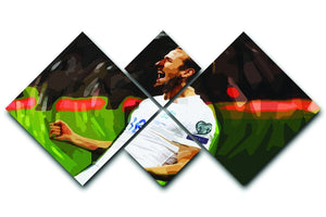 Harry Kane England 4 Square Multi Panel Canvas  - Canvas Art Rocks - 1
