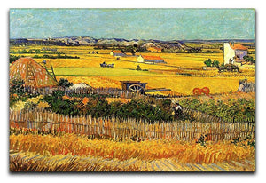 Harvest at La Crau with Montmajour in the Background by Van Gogh Canvas Print & Poster  - Canvas Art Rocks - 1