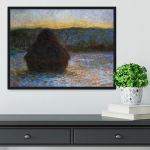 Haylofts thaw sunset by Monet Framed Print - Canvas Art Rocks - 2