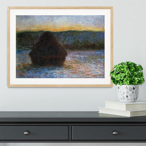 Haylofts thaw sunset by Monet Framed Print - Canvas Art Rocks - 3