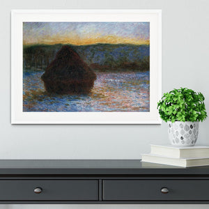 Haylofts thaw sunset by Monet Framed Print - Canvas Art Rocks - 5