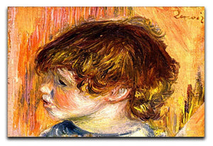 Head of a young girl by Renoir Canvas Print or Poster  - Canvas Art Rocks - 1
