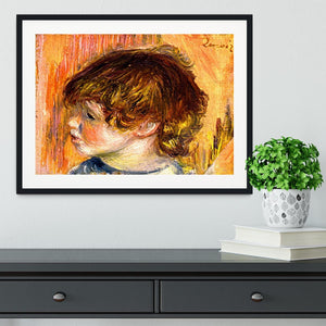 Head of a young girl by Renoir Framed Print - Canvas Art Rocks - 1
