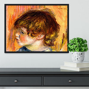 Head of a young girl by Renoir Framed Print - Canvas Art Rocks - 2