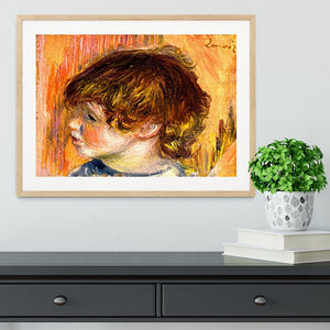 Head of a young girl by Renoir Framed Print - Canvas Art Rocks - 3
